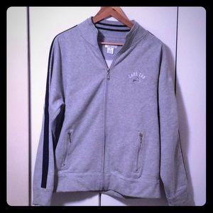 Zip-front sweatshirt